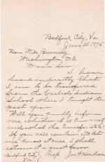 James W. Hendren Requests to Know if is to be Transferred