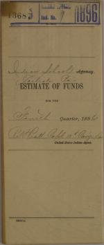 Estimate of Funds, Fourth Quarter 1896