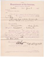 Emma A. Cutter's Request for Leave of Absence
