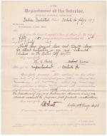 M. S. Barr's Request for Leave of Absence