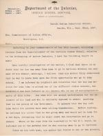 Peirce Makes a Report on the Kidnapping Claim of Henry Doxtator