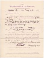 Jessie W. Cook's Request for Leave of Absence