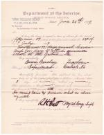Bessie Barclay's Application for Leave of Absence