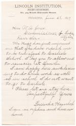Letters from Lincoln Students Desiring to Remain at Lincoln