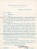 J. D. Sowerby's Reply to Refusal of Pay for Five Days in July