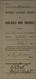 Monthly Sanitary Report of Diseases and Injuries, September 1899