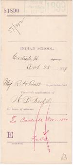 W. B. Beitzel's Application for Leave of Absence