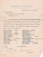 List of New York Indians at Carlisle Eligible for Appropriation