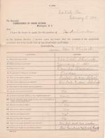 Application for Employment from Ida E. Wheelock