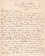 William A. Mercer Requests to be Reinstated into Indian Service