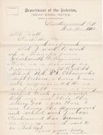 Isaac Seneca Requests Assistance in Being Transferred to Fort Berthold