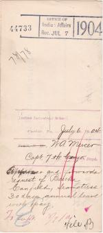 Bertha Canfield's Application for Annual Leave of Absence