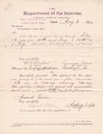 W. H. Miller's Application for Annual Leave of Absence