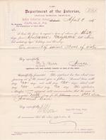 M. S. Barr's Application for Leave of Absence