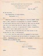 Check Received from Estate of Harriet W. Taber
