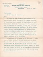 Dismissal of E. G. Sprow from the Carlisle Indian School