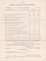 Monthly School Report for January 1907