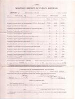 Monthly School Report for February 1907