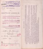 Arthur E. Schaal's Application for Annual Leave of Absence