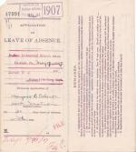 Margaret O. Eckert's Application for Annual Leave of Absence