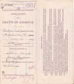 Ida Boger's Application for Annual Leave of Absence