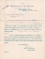 Request to Pay Students Labor Over Summer of 1907