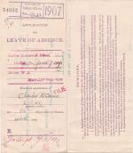 Charles H. Carns' Application for Annual Leave of Absence