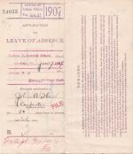 John A. Herr's Application for Annual Leave of Absence