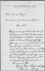 Request to Furnish Supplies to the Carlisle Indian School
