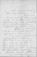 Application from Anna H. Haines for Appointment as Matron
