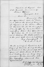 Application for Employment from C. W. Kise