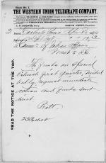 Attention Called to Special Estimate of Funds, First Quarter 1880