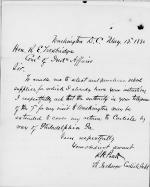 Pratt's Request for Authority to Return to Carlisle from Washington, D.C.