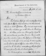 Request to Cover Traveling Expenses of a Cheyenne and Arapaho Party