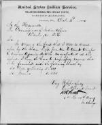 Requisition for Stationary, October 1880