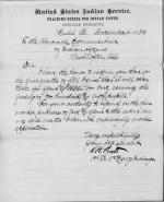 Request to Purchase Beef and Flour, First Quarter 1881