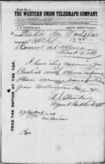 Request for Transportation of 11 Indians to Carlisle