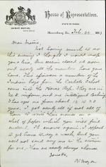 Letter from Henry Meyer to Unknown Recipient, February 24, 1883
