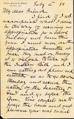 Letter from Richard H. Pratt to Cornelius R. Agnew, February 4, 1888
