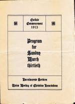 1913 Commencement Program