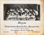Carlisle Indian Band and Girls' Mandolin Club Musicale Program, 1908