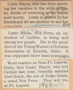 Lizzie Hayes Student File