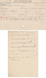 Edith Maybee Student File