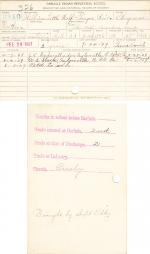 William Little Wolf Student File