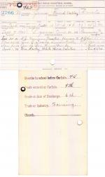 Moses James Student File