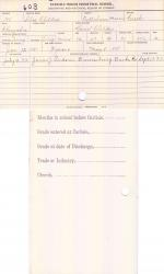 Silas Childers Student File