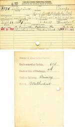 Albert Scott Student File