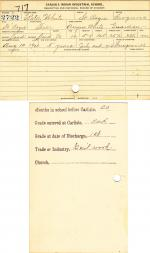 Peter White Student File