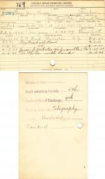 George Henry Thompson Student File