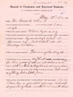 Moses B. Hill Student File
